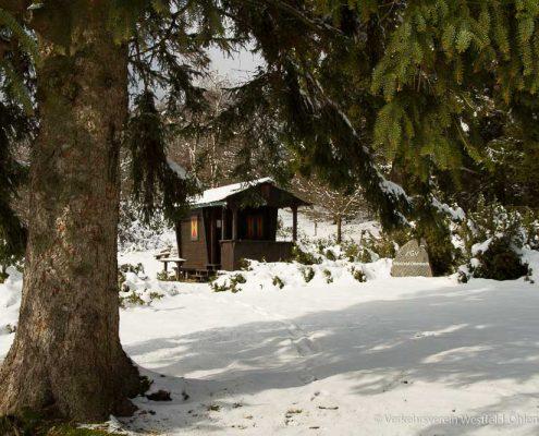 Schutzhütte auf der Rehhecke