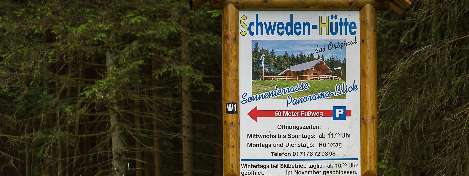Die Schweden-Hütte liegt am Premiumwanderweg Schwedensteig (W1)
