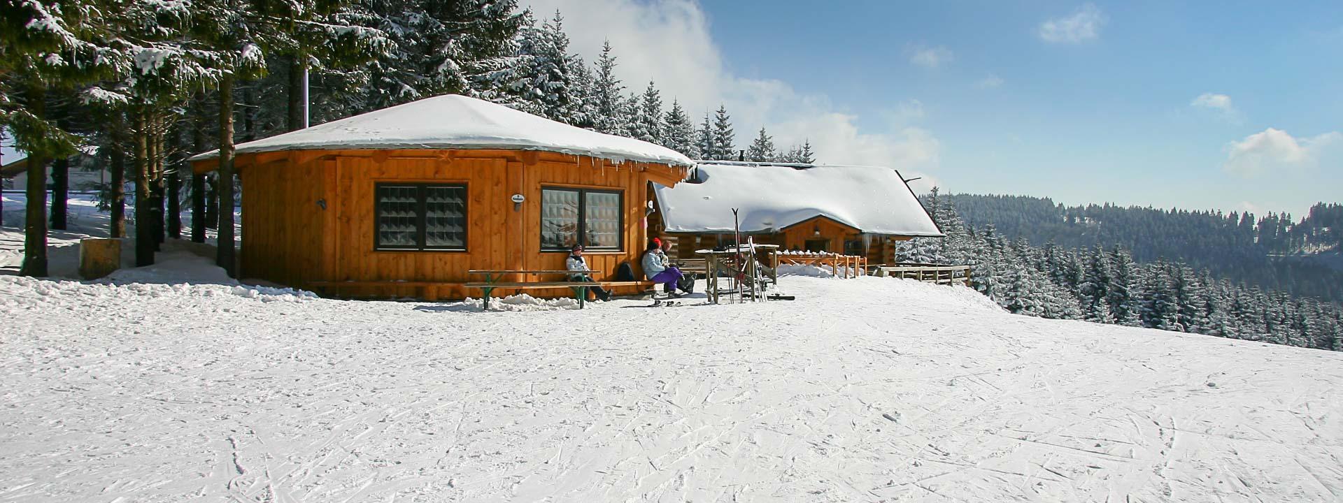Schweden-Hütte im Winter